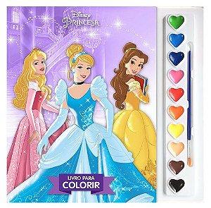 Aquarela - Disney Princesas - Livro Para Colorir