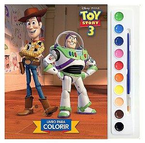 Aquarela - Toy Story 3 - Livro Para Colorir