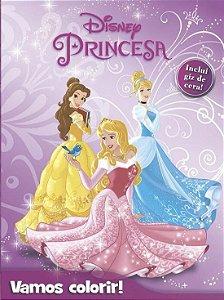 Livro Para Colorir - Col. Vamos Colorir - Disney Princesas