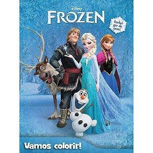 Livro Para Colorir - Col. Vamos Colorir - Frozen