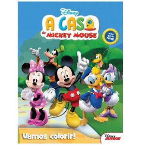Livro Para Colorir - Col. Vamos Colorir - A casa do Mickey Mouse