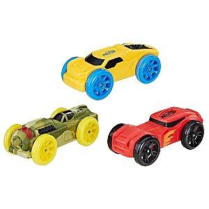Nerf Refil Carros Nitro C/ 3