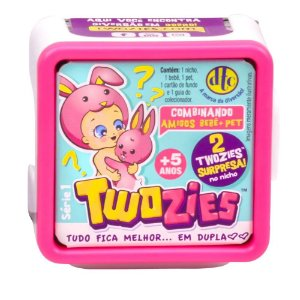 Twozies Series 2 com Figura Bebê Pet Surpresas DTC Em Dupla
