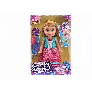 Boneca Sparkle Girlz Estilo Princesa Tati com Som Loira