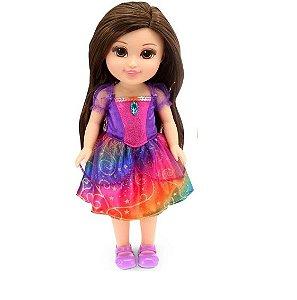 Boneca Sparkle Girlz Estilo Princesa Tati com Som Morena