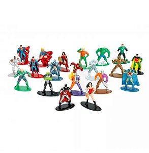 DC Comics Bonecos de Metal Nano com 20 peças