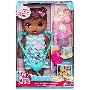 Boneca Baby Alive Cuida de Mim Negra