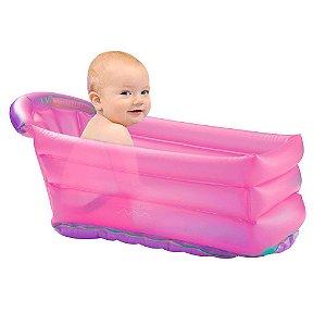 Banheira Infantil Multikids Inflável Rosa