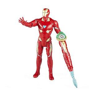 Homem de Ferro c/ joia do Infinito - boneco pequeno