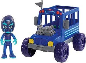 PJ Masks Super Ônibus Ninja com Personagem