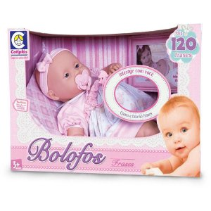 Boneca Bebê Bolofos 120 frases Cotiplás