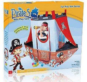 Barraca Barco Pirata com 24 Bolinhas Coloridas