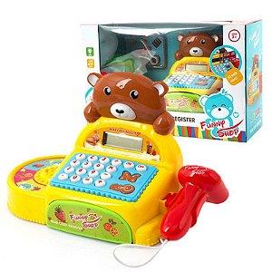 Maquina Registradora  Menino Menina Urso Bear Cash Register