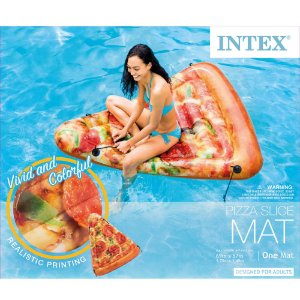 Boia Piscina Fatia de pizza Grande Intex verao