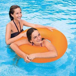Boia redonda com alça piscina intex cores neon