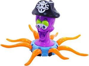 Brinquedo para criança polvo pirata musical
