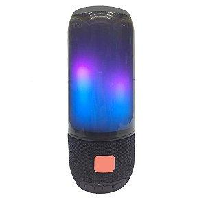Caixa de Som Bluetooth Potente Portátil Amplificada Com Leds