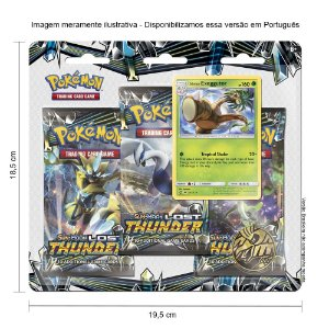 Triple Pack Carta Pokémon Exeggutor Copag Estampas Ilustradas  3 Pacotes Booster e 1 Carta Especial