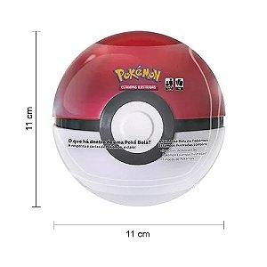 Pokebola Pokémon Lata para guardar Cartas Pokémom 3 Pacotes Booster 18 Cartas Pokémom