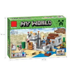 Blocos de Montar Minecrafted  519pcs my world O Posto Avançado do Deserto