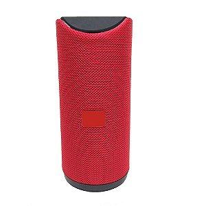 Caixa de Som Bluetooth Potente Portátil Amplificada  10w Vermelha