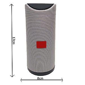 Caixa de Som Bluetooth Potente Portátil Amplificada  10w Cinza