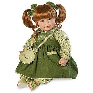 Bebê Reborn Boenca tipo Bebe de Verdade Verde Froggy Fun Girl