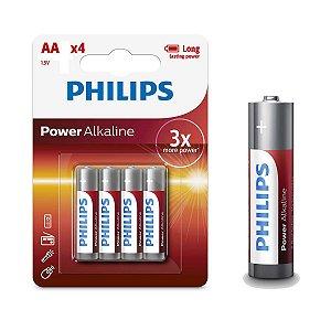 Kit de Pilhas Alcalina 40 Unidades Philips AA 2500mAh não Recarregavel
