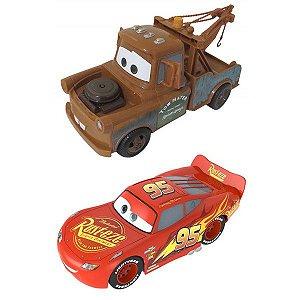 Carrinhos Relâmpago McQueen e Matt Fricção Carros Disney Pixar