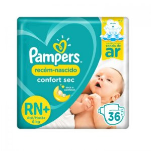 Fralda Pampers Confort Sec Recém Nascido C/36 unidades