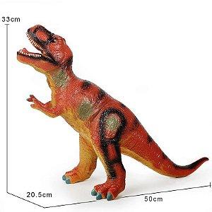 Dinossauro Emborrachado Plástico Soft Lã Fofinho Maleavel