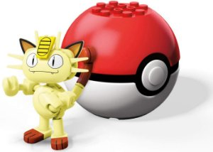 Monte o Seu Pokemon MeowTh Pokebola Mega Blocks Mattel