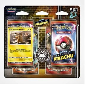 Cartas Pokemon Detetive Pikachu Quad Pack 4 bosster 21 Un