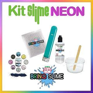 Kit Slime Brilha Cola Neon Magic Floam Glow BrinqSlime Borax