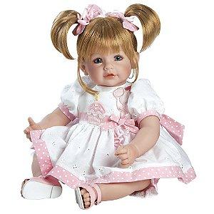 Bebê Reborn Boneca Olhos Azuis Feliz Aniversario Loira