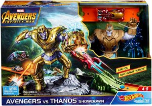 Pista Hot Wheels Marvel Conjunto Thanos Avengers Mattel End Game