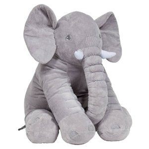 Animal de Pelúcia Gigante 60 Cm Elefante Cinza Buba Almofada