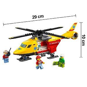 Lego de Helicóptero Lego City Ambulância Original