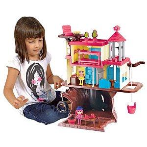 Casa na Floresta Chocolate com 2 Mini Bonecas Playset Meninas