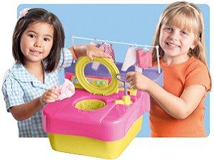 Brinquedo Primeira Maquina de Lavar Roupa Lava-Lava Home