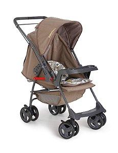 Carrinho de Bebê Milano Reversível II Panda Galzerano Marrom