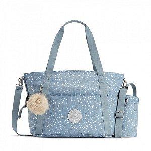 Bolsa Kipling Maternidade Little Heart Resistente Azul