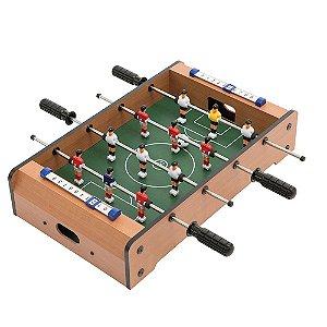 Mini Pebolim Futebol de Mesa Game + Bola Totó