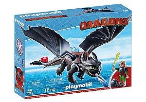 Playmobil Como Treinar seu Dragão Banguela e Soluço Furia da noite