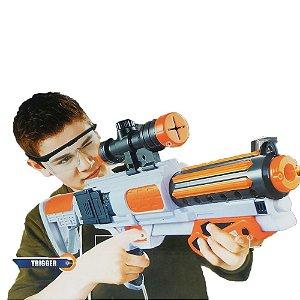 Lançador Metralhadora Arminha Estilo Nerf 12 Dardos Barato