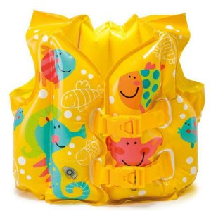 Colete Inflável Peixinhos Infantil Ajustável 3 anos