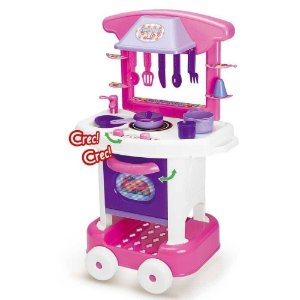 Cozinha Play Time Cotiplás Brinquedo Menina Fogao Panelas