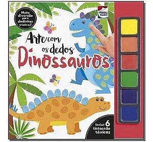 Livro Arte Com Os Dedos Dinossauros Happy Books Com Tintas