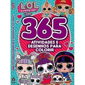 Livro Boneca lol 365 Atividades e Desenhos para Colorir
