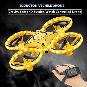 Drone Com LED De Fácil Pilotagem 2 em 1 Com Controle De Mão